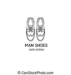 logo, chaussures, homme