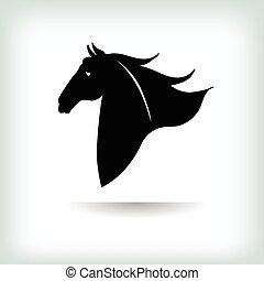 logo, cheval, vecteur, template., illustration