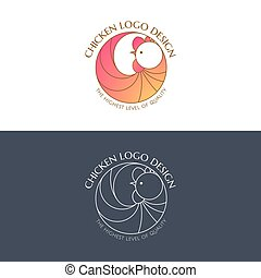 Logo chicken color and linear