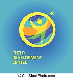 Logo child development center with star.