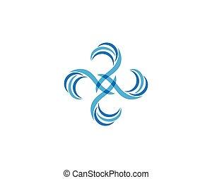 logo, cirkel, abstrakt, vektor