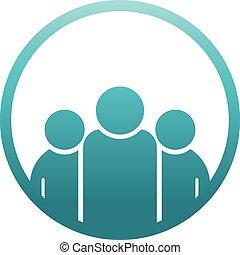 logo, cirkel, ontwerpers, team
