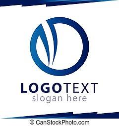 logo, cirkel, vektor, abstrakt, mall