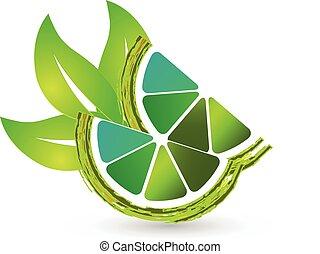 logo, citron, det leafs