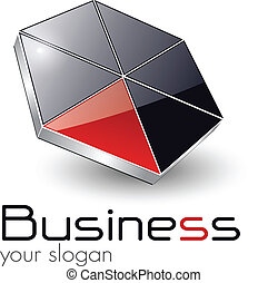 logo  - Logo design for business black red, vector.