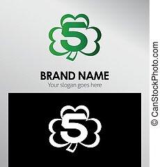 Logo Clover icon design template