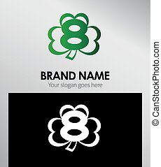 Logo Clover icon design template