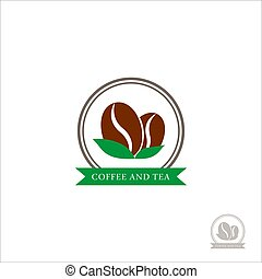 Logo Coffee beans. Coffee logo for a coffee shop. Logo vector isolated on white background