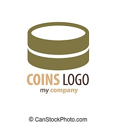 Logo Coins brown color