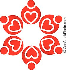 logo, collaboration, aimez coeurs