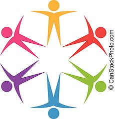 logo, collaboration, optimiste
