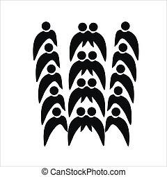 logo, collaboration, vecteur