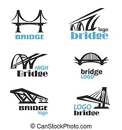 logo, collection, gabarit, symbole, pont