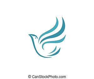 logo, colombe, oiseau, gabarit