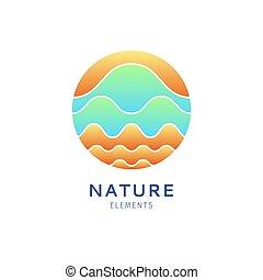 Logo color waves