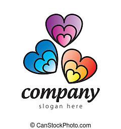 logo colored hearts