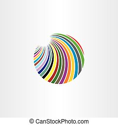 logo colorful circle abstract vector illustration