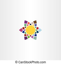 logo colorful star icon symbol element