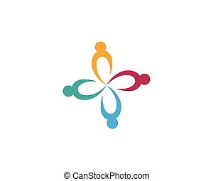 logo, communauté, soin