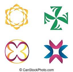 logo, communie, ontwerp