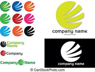 logo, compagnie, -, cercle, conception