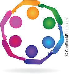 logo, compagnie, collaboration, réseau