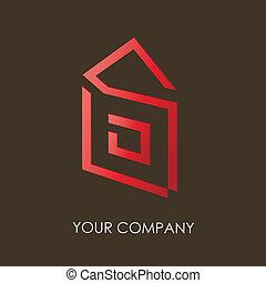 logo, compagnie, conception, v.2
