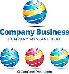 logo, compagnie, global, symbole, business