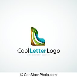 logo, compagnie, lettre