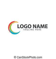 logo, compagnie, vecteur, conception, gabarit