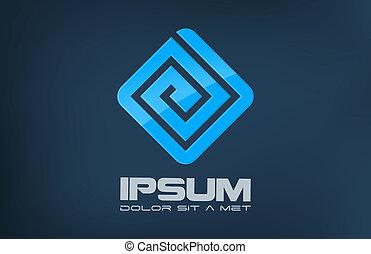 Logo company abstract. - Business symbol. Puzzle labirinth...