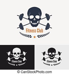 logo, concept., atletisk, gymnastiksal