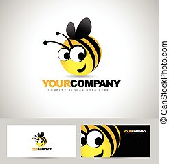 logo, concept, conception, abeille