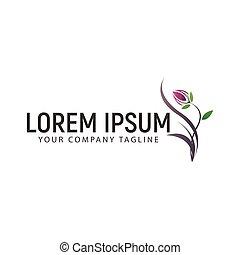 logo, concept, conception, fleur, gabarit