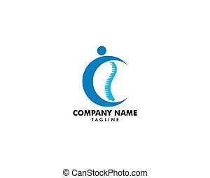 logo, concept, conception, gabarit, chiropraxie