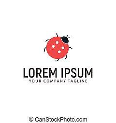 logo, concept, conception, gabarit, coléoptère