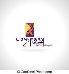logo, concept, couturier