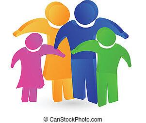 logo, concept, gezin