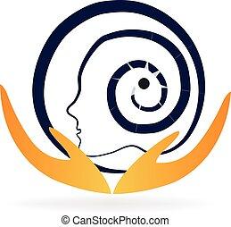 Logo concept of human brain