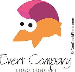 Logo concept with funny hedgehog.