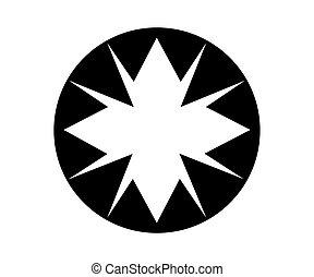 logo, conception, étoile