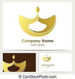 logo, conception, carte affaires