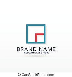 logo, conception, concept, carrée, gabarit