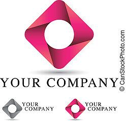 logo, conception, constitué