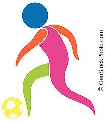 logo, conception, football, sport