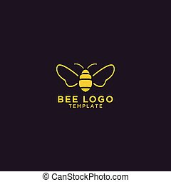 logo, conception, gabarit, abeille