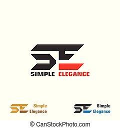 logo, conception, lettre