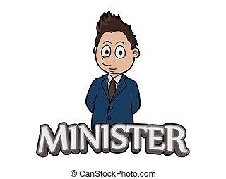 logo, conception, ministre, illustration