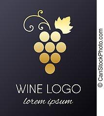 logo, conception, raisins, element.