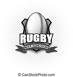 logo, conception, rugby, gabarit